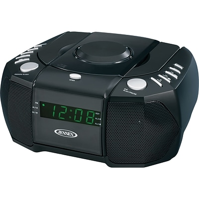 Jensen® Radios, JCR-310 Dual Alarm AM/FM CD Clock Radio