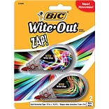 BIC Wite-Out Brand Zap Correction Tape, 2/Pack (WOMDTP21)