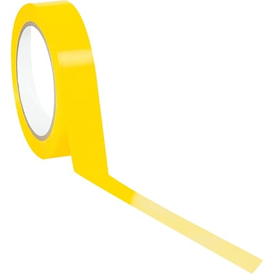 Tape Logic™ 1 x 36 yds. Solid Vinyl Safety Tape, Yellow, 3/Pack