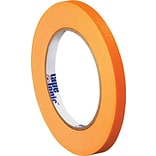 Tape Logic™ 1/4 x 60 Yards Masking Tape, Orange, 12 Rolls (T93100312PKD)