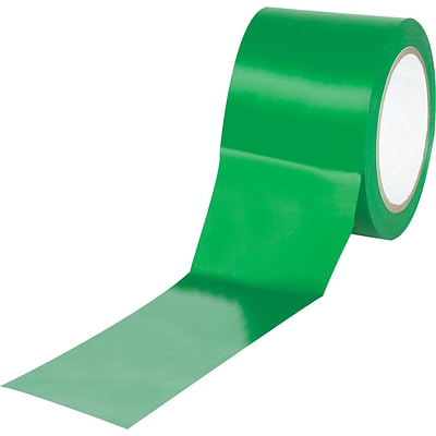 Tape Logic™ 3 x 36 yds. Solid Vinyl Safety Tape, Green,  3/Pack