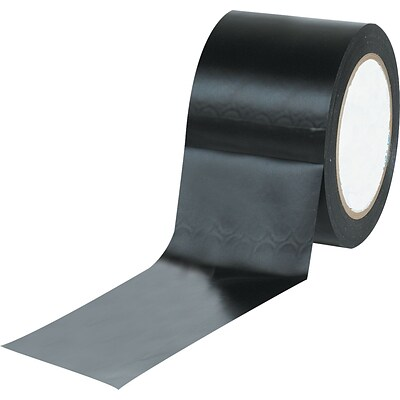 Tape Logic™ 3 x 36 yds. Solid Vinyl Safety Tape, Black, 3/Pack
