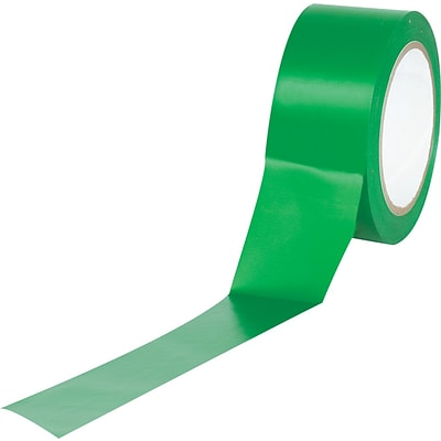 Tape Logic™ 2 x 36 yds. Solid Vinyl Safety Tape, Green,  3/Pack