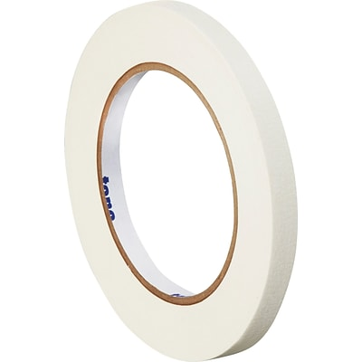 Tape Logic™ 1/4 x 60 Yards Masking Tape, White, 12 Rolls (T93100312PKW)