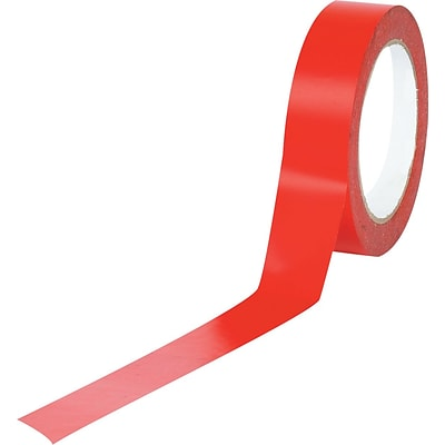 Tape Logic™ 1 x 36 yds. Solid Vinyl Safety Tape, Red, 3/Pack
