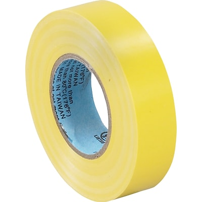 Tape Logic™ 3/4(W) x 20 yds(L) Vinyl Electrical Tape, Yellow, 10/Pack