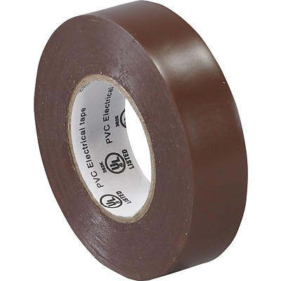Tape Logic™ 3/4(W) x 20 yds(L) Vinyl Electrical Tape, Brown, 10/Pack
