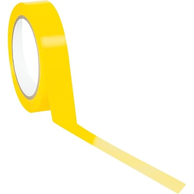 Tape Logic™ 1 x 36 yds. Solid Vinyl Safety Tape, Yellow, 48/Case