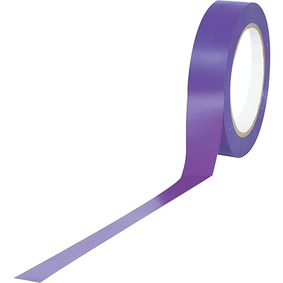 Tape Logic™ 1 x 36 yds. Solid Vinyl Safety Tape, Purple, 48/Case