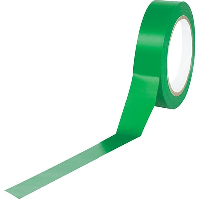 Tape Logic™ 1 x 36 yds. Solid Vinyl Safety Tape, Green, 48/Case