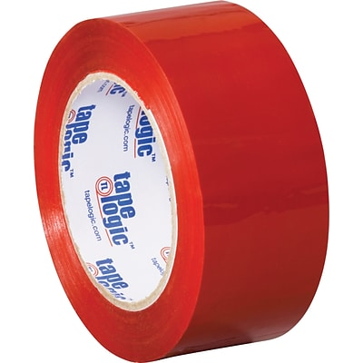 2 x 110 yds. Red Tape Logic™ Carton Sealing Tape, 36/Case