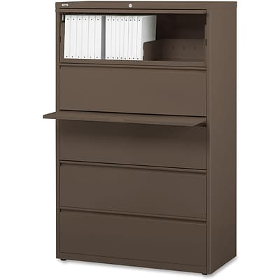 Lorell Fortress Series 42 Lateral File, Medium Tone, 42 x 18.6 x 67.6