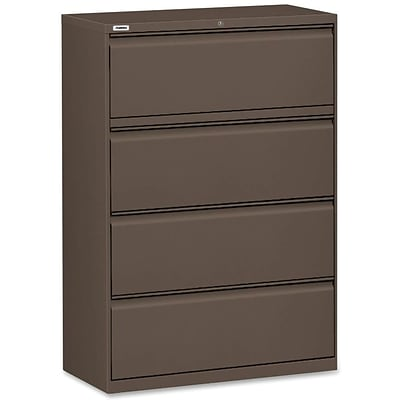 Lorell Fortress Series 42 Lateral File, Medium Tone, 4 x File Drawer(s)
