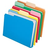 Pendaflex Double Stuff File Folders, Letter Size, 3 Tab Positions, Assorted Colors, 24/Pack (54458)
