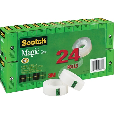 Scotch® Magic™ Tape Value Packs; 144 Rolls/Case; 6 packs of 24 rolls