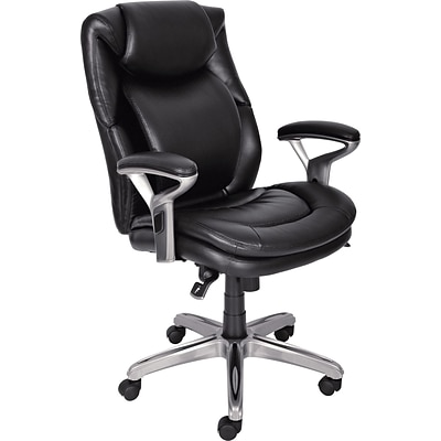 Beau Serta AIR™ Health And Wellness Leather Computer And Desk Office Chair,  Fixed Arms,