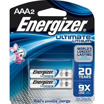 Energizer Ultimate AAA Lithium Batteries, 2/Pk