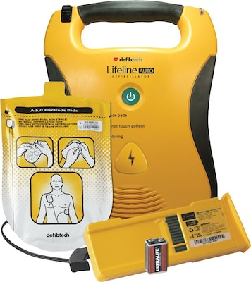 Defibtech® Lifeline AUTO AED Defibrillator Package with Prescription Certificate and 7 Year Battery