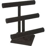 T Bar Jewelry 3 Tier, Black, 12 X 13H