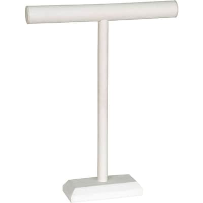 Jewelry T-Bar White Leatherette 14W X 18H
