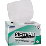 Kimberly-Clark® Kimtech Science® Kimwipes® Task Wipe, Unscented, White, 8.4(W) x 4.4(L), 30/Ctn