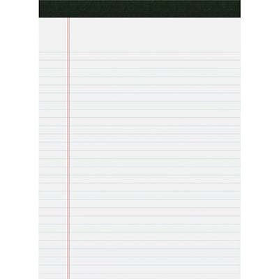 USDA Certified Bio-Preferred Legal Pad, Ruled, Letter, 40 Sheets, White, 12/Pk
