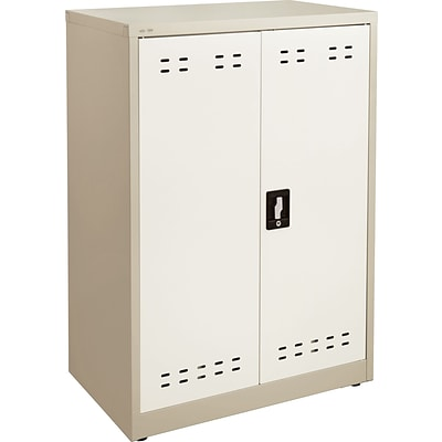 Safco 42H Steel Storage Cabinet, Tan