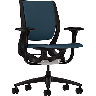 HON® Purpose Task Chair, Cerulean Fabric, Onyx Frame