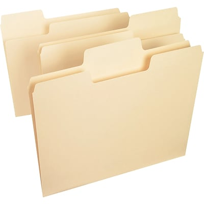 Smead® SuperTab Heavyweight Oversized 3-Tab File Folders, Legal, Manila, 50/Bx (15401)