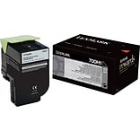 Lexmark Black Toner Cartridge (70C0H10); High Yield