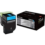 Lexmark Cyan Toner Cartridge (70C0H20); High Yield