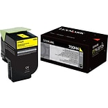 Lexmark Yellow Toner Cartridge (70C0H40); High Yield