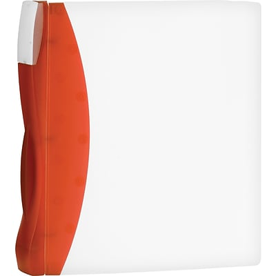 Storex® DuraTech Frosted 1-1/2 Round Ring Binder, Non-View, Tangerine, 3-Ring