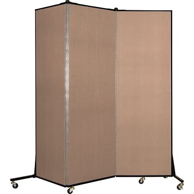 Screenflex® Light-Duty Portable Room Dividers; 65H x 59W, Tan