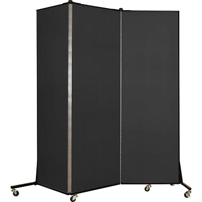 Screenflex® Light-Duty Portable Room Dividers; 65H x 59W, Charcoal Black
