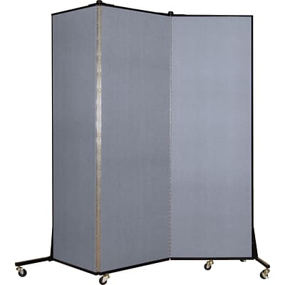 Screenflex® Light-Duty Portable Room Dividers; 65H x 59W, Mist Blue