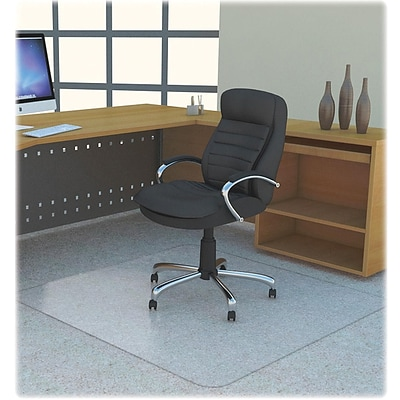 Lorell Polycarbonate Rectangular Studded Chair Mat; Clear, 48