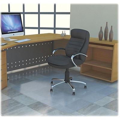 Lorell Rectangular Chairmat w/out Lip, Clear