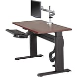 Lorell Height-adjustable Workstation Tabletop - Mahogany, 60 x 24