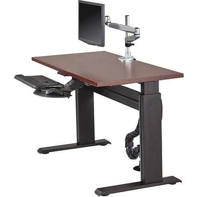 Lorell Height-adjustable Workstation Tabletop - Mahogany