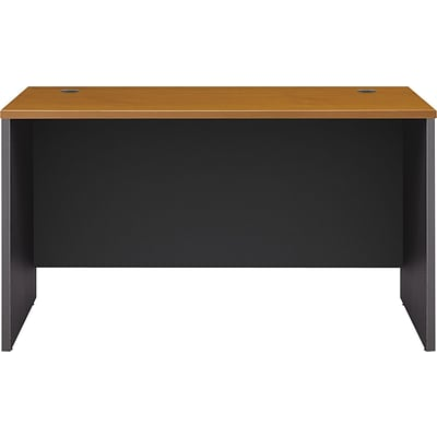 Bush Business Westfield 48W x 30D Shell Desk, Natural Cherry/Graphite Gray, Installed