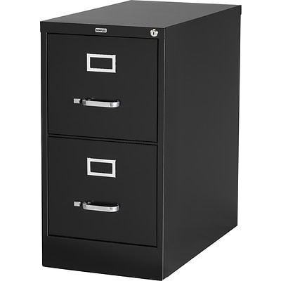 Quill Brand® Vertical File Cabinet, 25 2-Drawer, Letter Size, Black