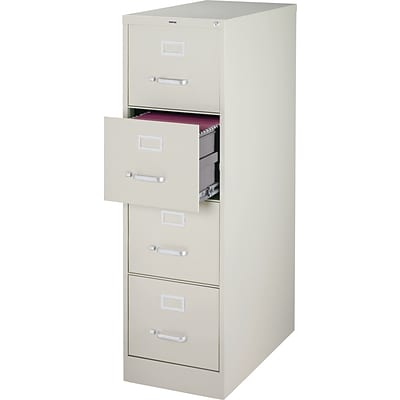 Quill Brand® 4-Drawer Vertical File Cabinet, Locking, Letter, Gray, 25D (25163D)