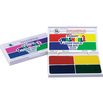 Washable 4-in-1 Stamp Pads, Primary