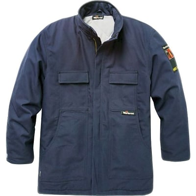 Workrite® Flame Resistant Insulated Thinsulate™ Field Coat, Navy Blue, Small