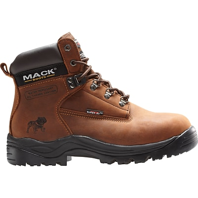 Mack Boots Bulldog, Mens Steel Toe Work Boot, Leather, Rocky Brown, Size 11 (Womens Size 13)