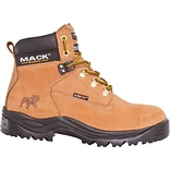 Mack Boots Bulldog, Mens Steel Toe Work Boot, Leather, Honey, Size 9 (Womens Size 11)