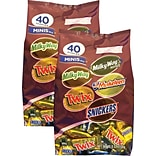 Mars® Chocolate Assorted Miniatures, 40 oz. Bag, 2/Pk