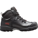 Mack Boots, Dingo, Mens Composite Toe Hiking Boot, Leather, Black, Mid cut, Size 6 (Womens Size 8)