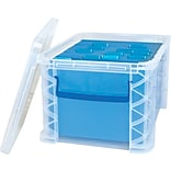 Advantus Super Stacker® Plastic File Box, Clear, 11 1/4H x 14 1/4 W x 17 3/4L